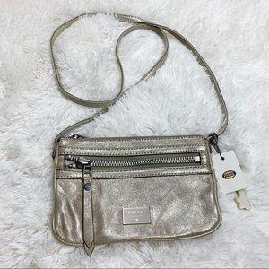 NWT Fossil Champagne Dawson Mini Crossbody Bag